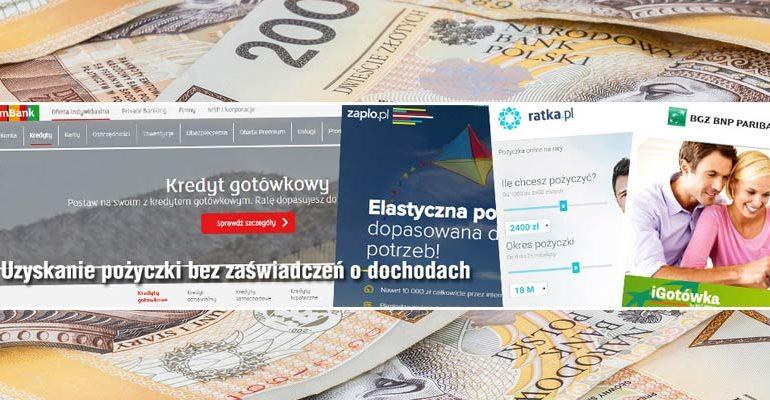 pożyczki bez zaświadczeń o dochodach