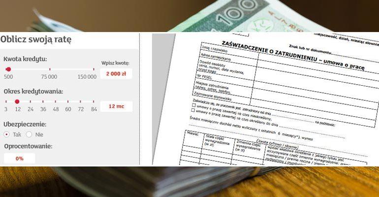 kredyt bez zaświadczeń o dochodach