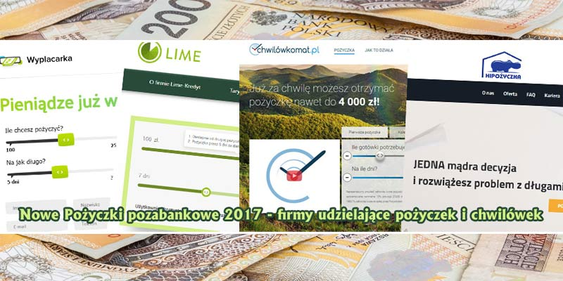 Nowe Pożyczki pozabankowe 2017